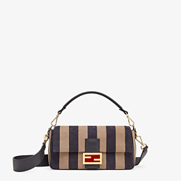 FENDI BAGUETTE - Brown nubuck leather bag - view 1 thumbnail