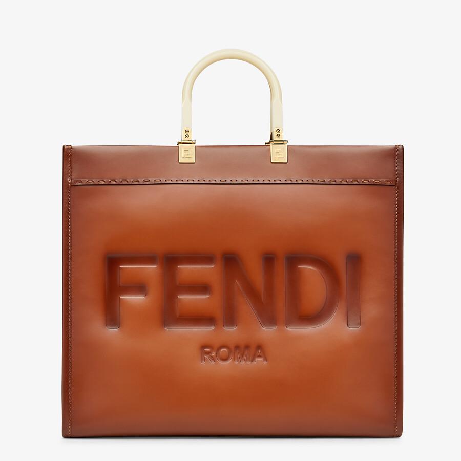 FENDI FENDI SUNSHINE LARGE - Natural leather shopper - view 1 detail