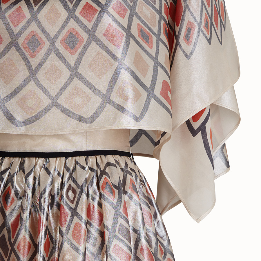FENDI DRESS - Multicolour silk dress - view 3 detail