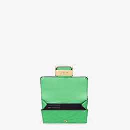 FENDI MICRO TRIFOLD - Green nappa leather wallet - view 3 thumbnail