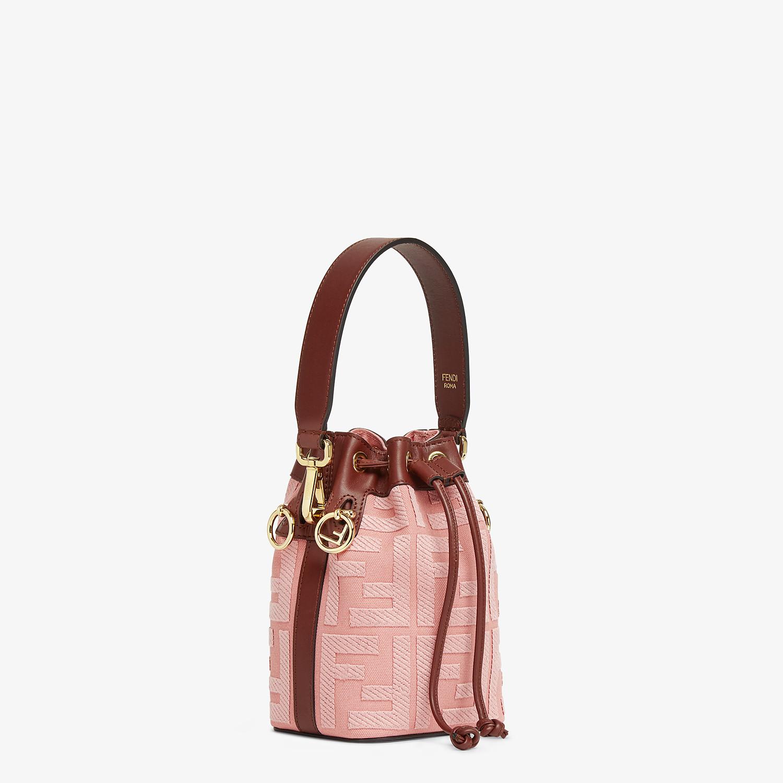 FENDI MON TRESOR - Pink canvas mini-bag - view 2 detail