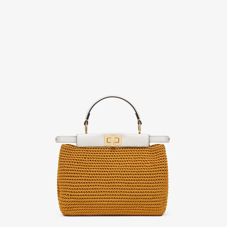 FENDI PEEKABOO MINI - Yellow cotton crochet bag - view 1 detail