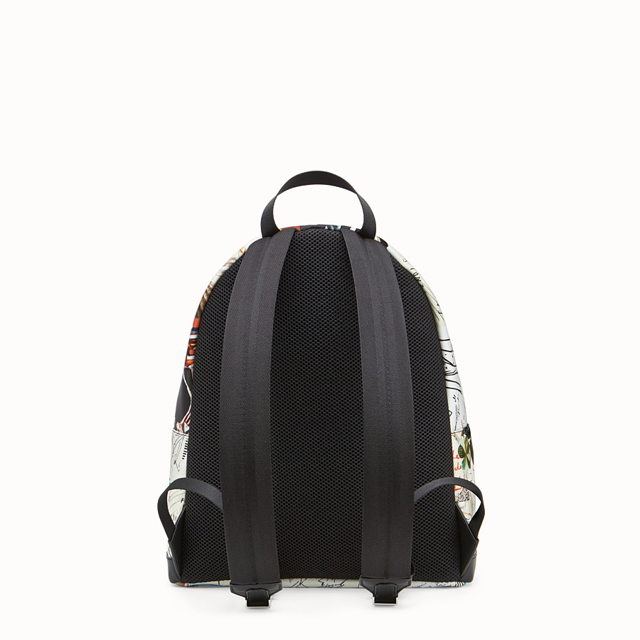 FENDI BACKPACK - Multicolour nylon backpack - view 3 detail