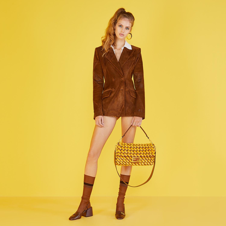FENDI SLINGBACKS - Brown leather Promenade - view 5 detail