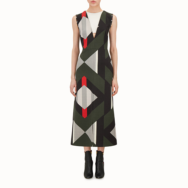 FENDI LONG DRESS - Double-sided wool dress - view 1 small thumbnail