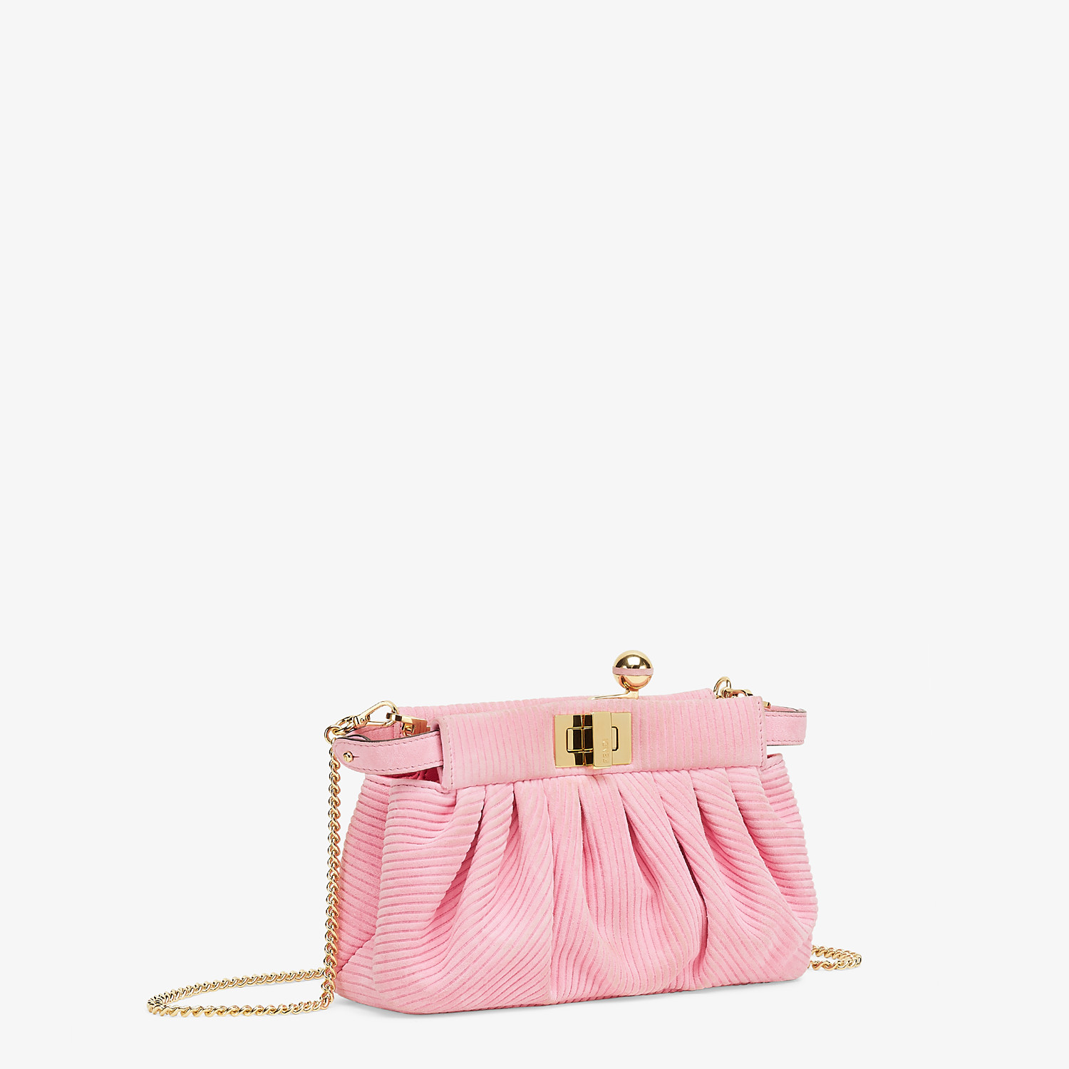 FENDI PEEKABOO CLICK - Small pink chamois bag - view 3 detail