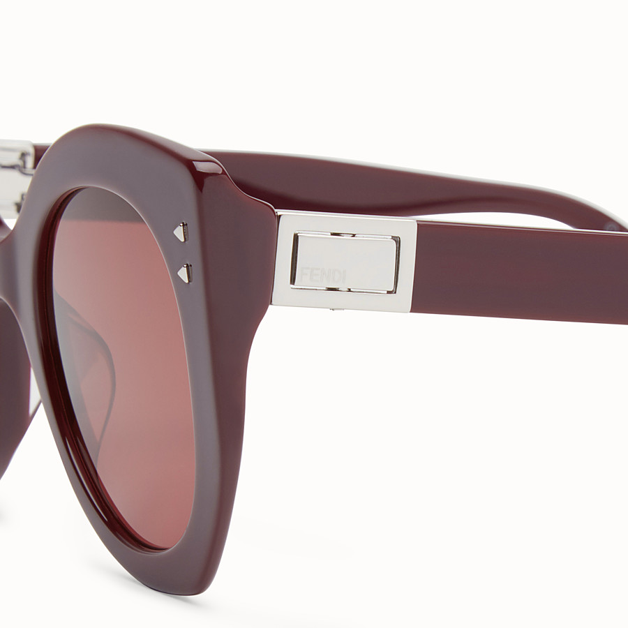 FENDI PEEKABOO - Burgundy sunglasses - view 3 detail