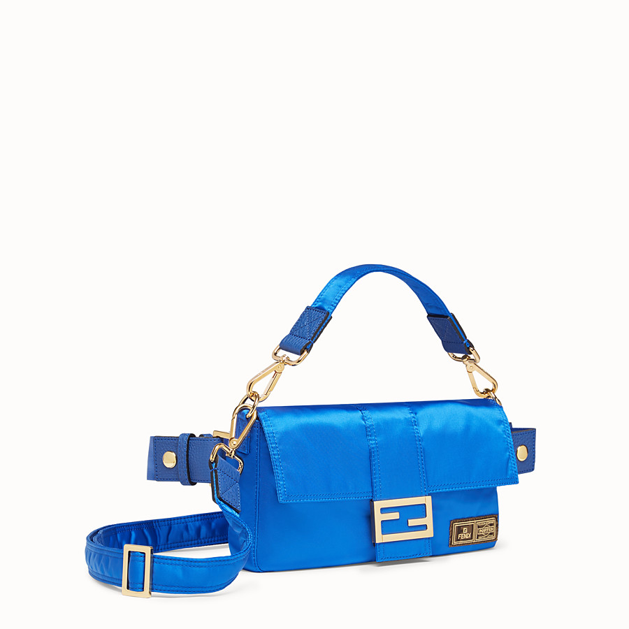 FENDI BAGUETTE FENDI AND PORTER - Blue nylon bag - view 2 detail