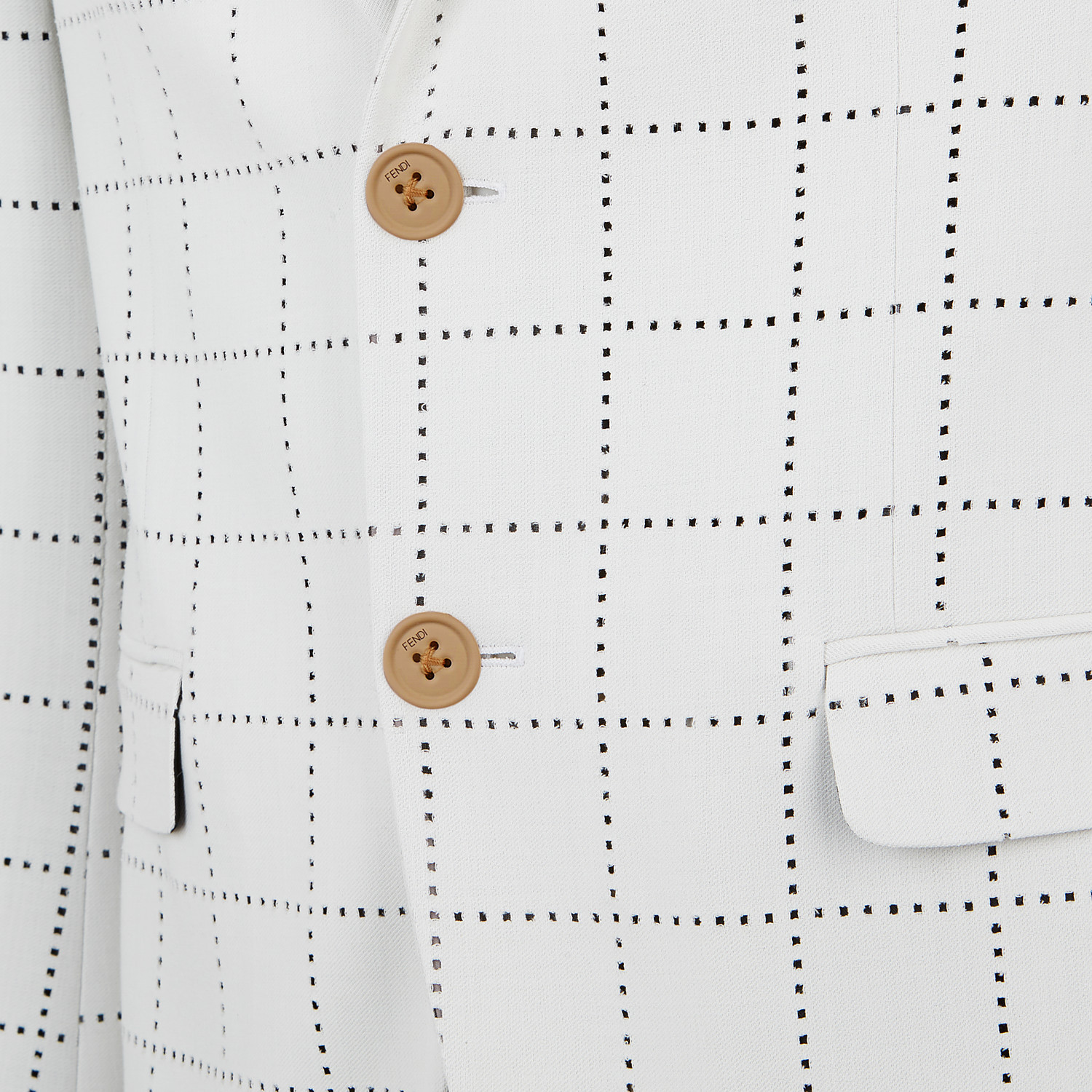 FENDI JACKET - White wool blazer - view 3 detail