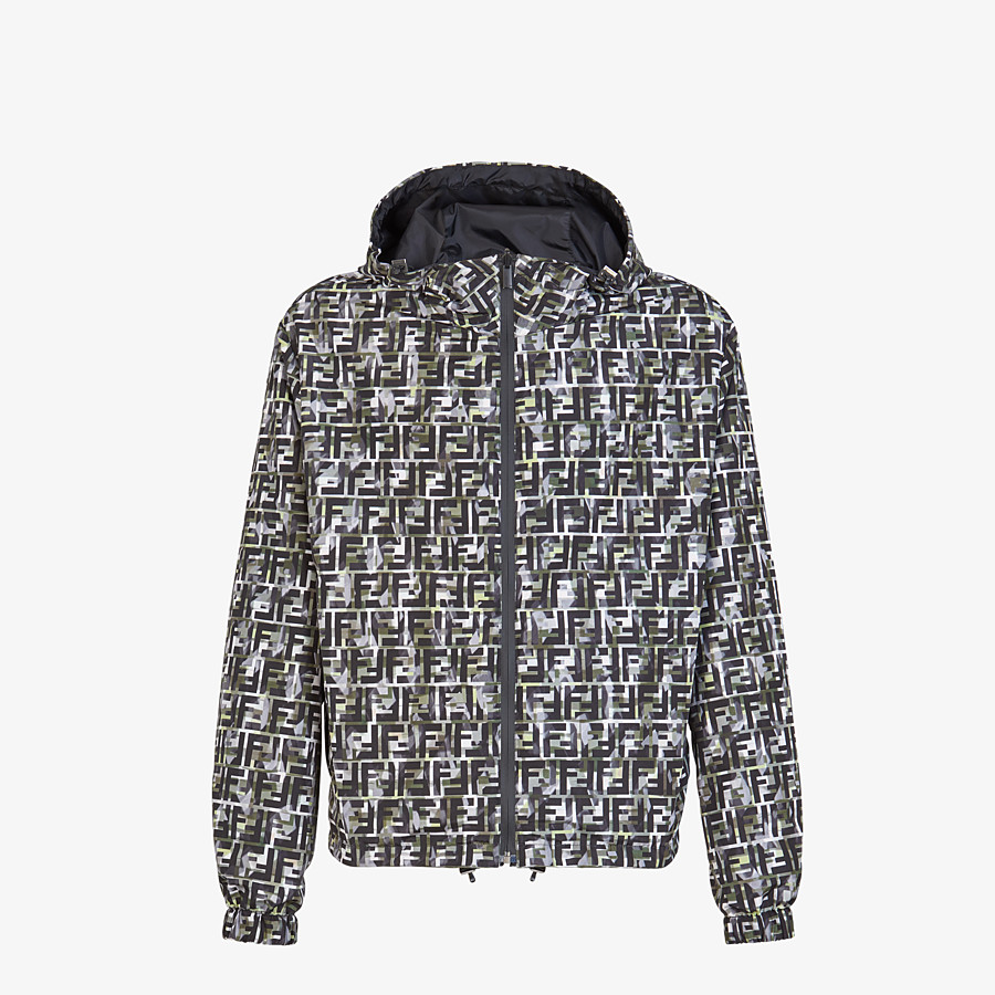 FENDI BLOUSON JACKET - Multicolor nylon jacket - view 1 detail