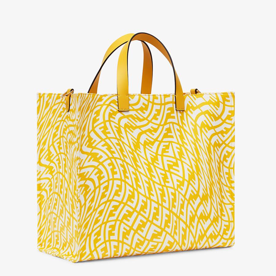 FENDI SHOPPER - Yellow glazed canvas bag - view 3 detail
