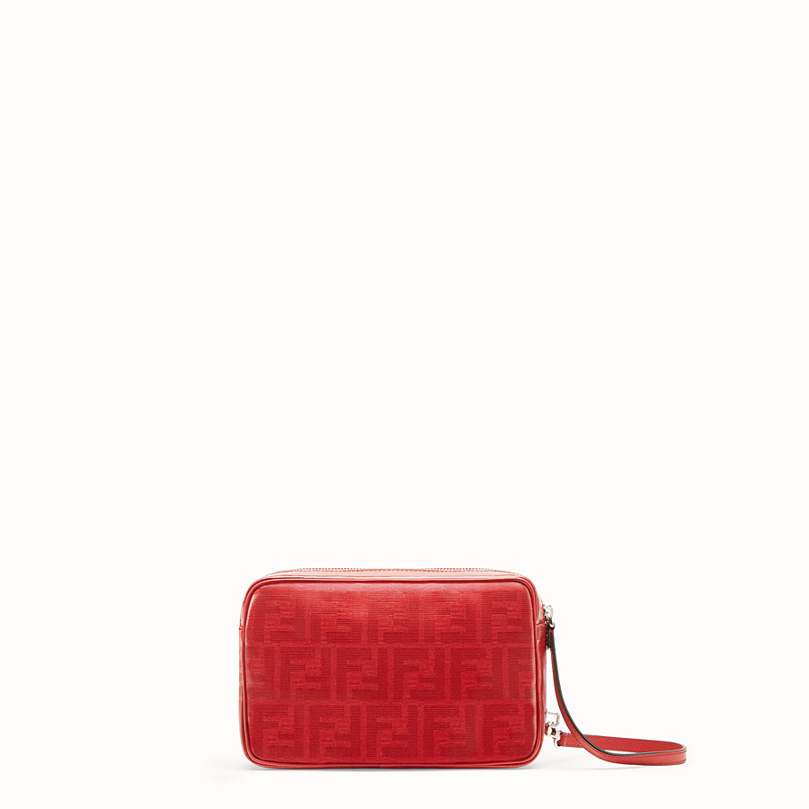 FENDI CAMERA CASE - Red fabric bag - view 3 detail