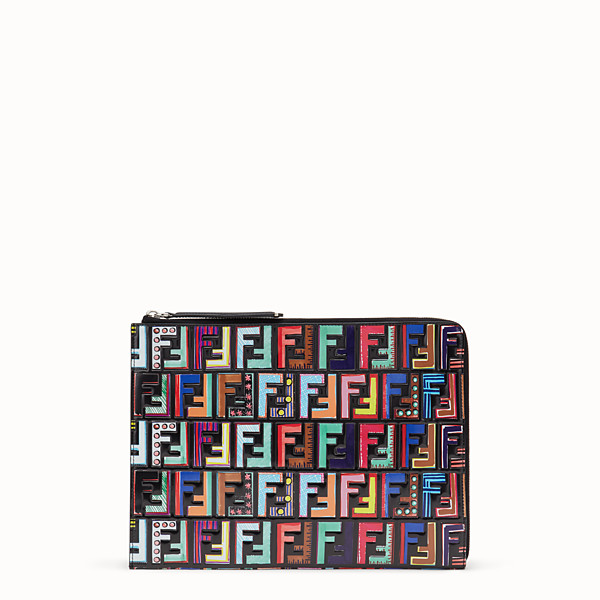 FENDI FLAT CLUTCH - Multicolor leather pouch - view 1 small thumbnail