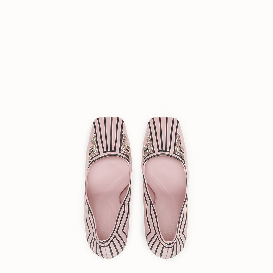 FENDI COURT SHOES - Pink satin court shoes - view 4 detail