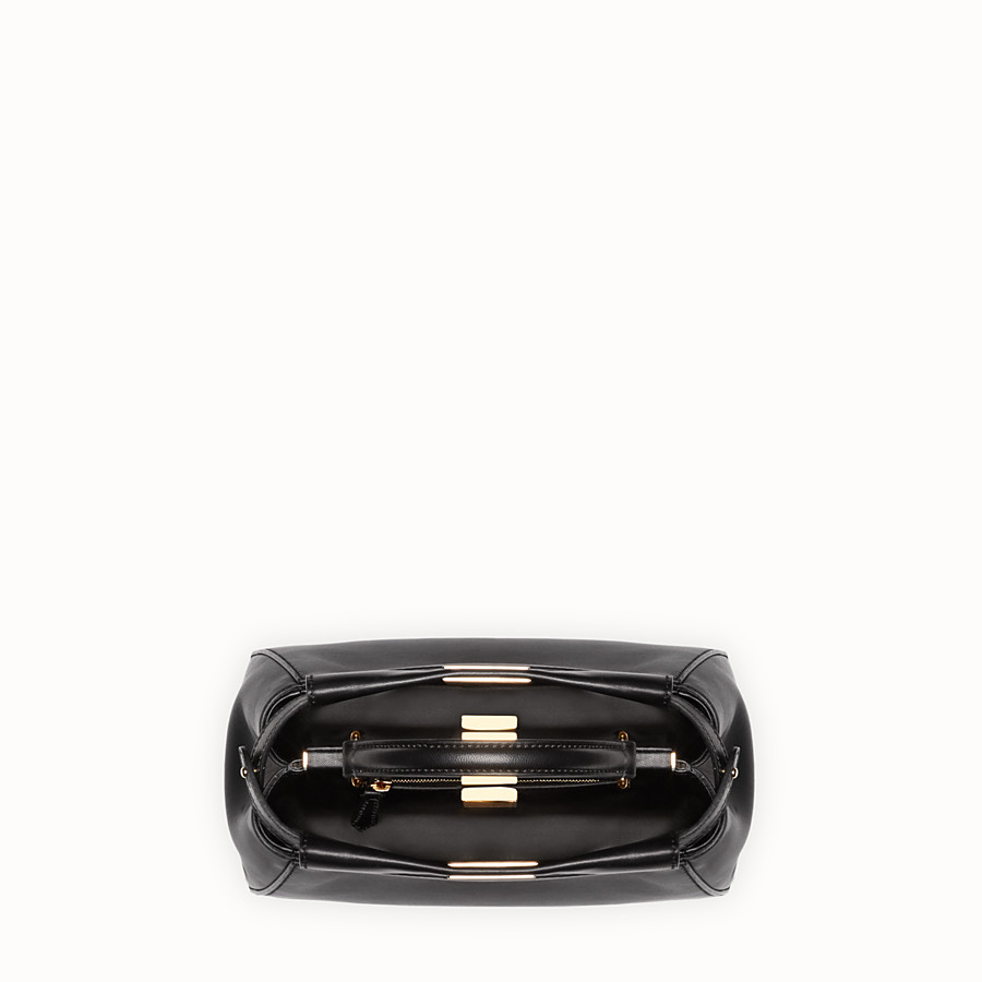 FENDI PEEKABOO ICONIC MINI - Black nappa handbag - view 5 detail