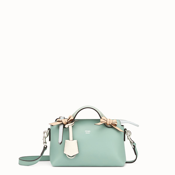 FENDI BY THE WAY MINI - Small green leather Boston bag - view 1 small thumbnail