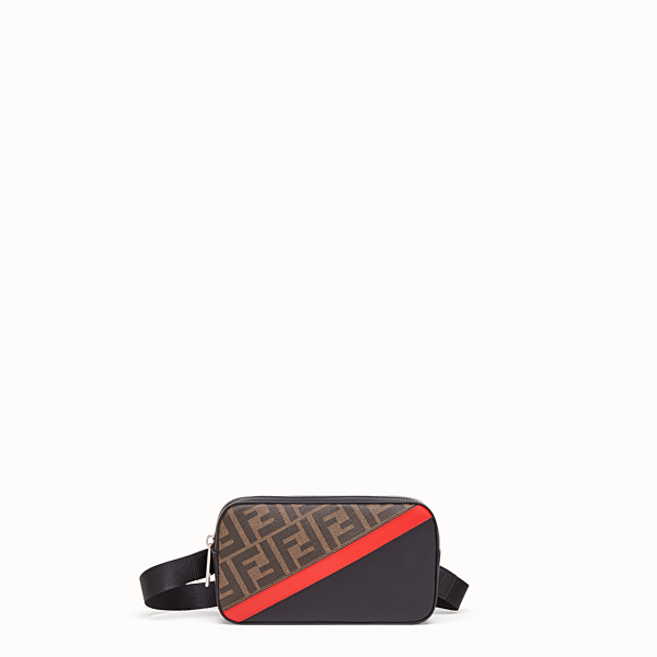 FENDI CAMERA CASE - Brown fabric bag - view 1 small thumbnail