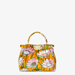 FENDI PEEKABOO ICONIC MINI - Orange chenille bag - view 1 thumbnail