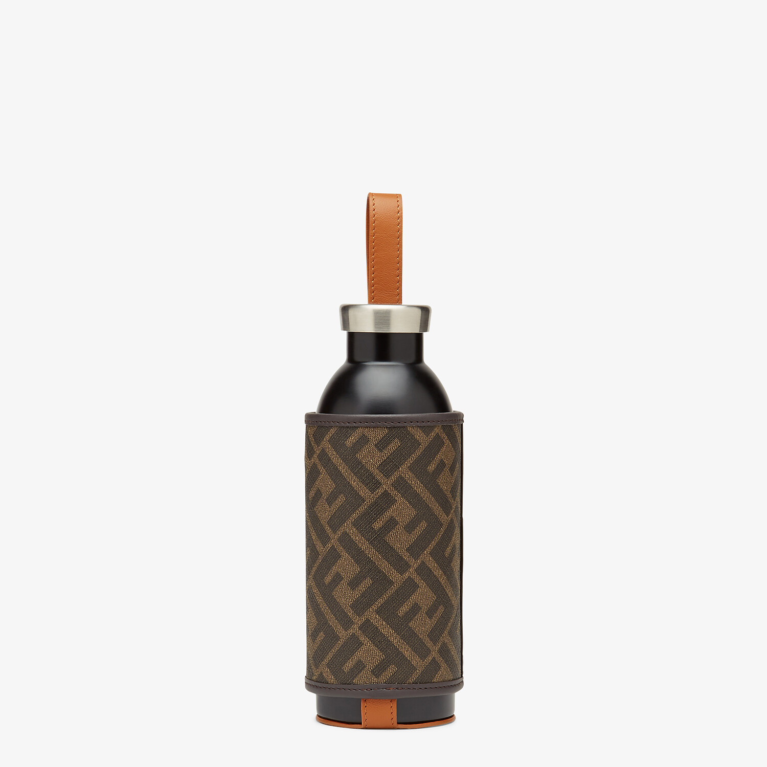 FENDI BOTTLE HOLDER - Bottle with brown fabric cover - view 1 detail