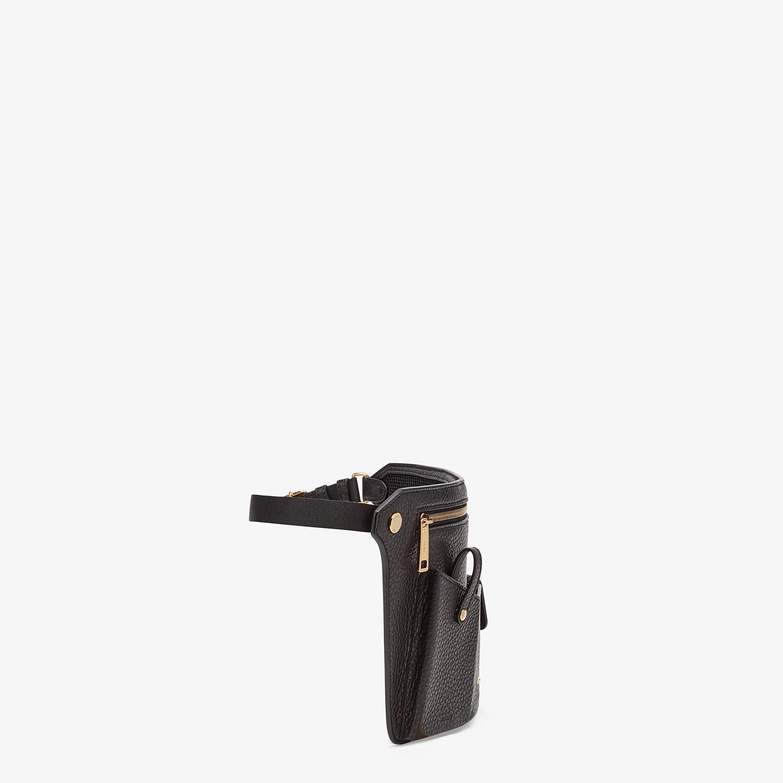 FENDI POUCH - Black leather cross-body bag - view 2 detail
