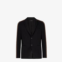 FENDI JACKET - Black cotton blazer - view 1 thumbnail