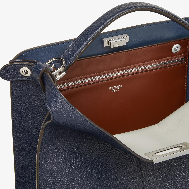 FENDI PEEKABOO ISEEU TOTE - Dark blue leather bag - view 7 detail