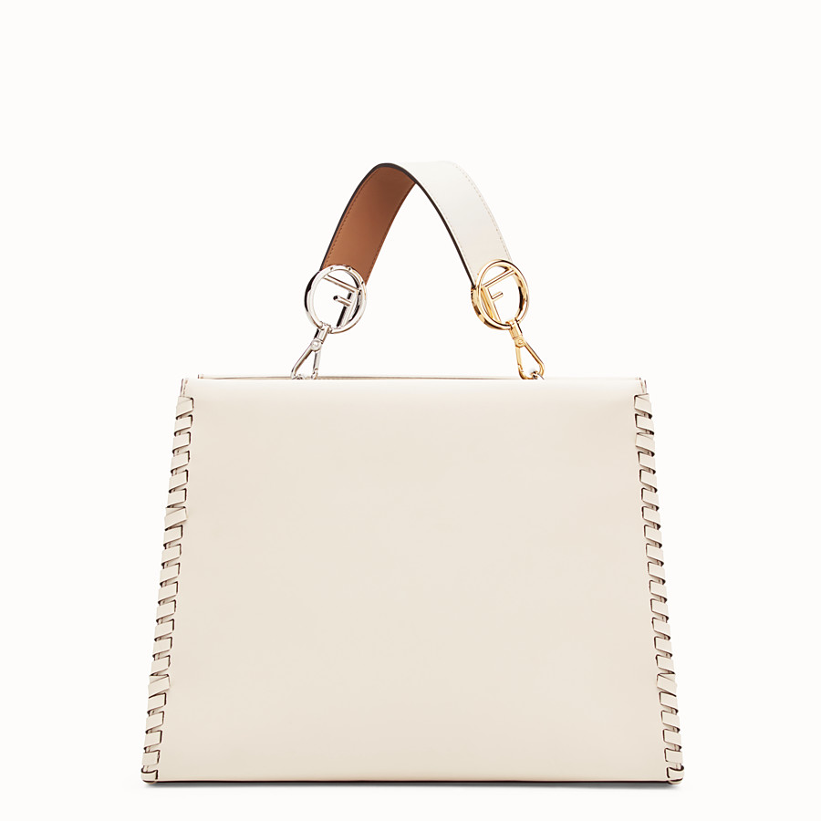 FENDI RUNAWAY REGULAR - White leather bag - view 3 detail