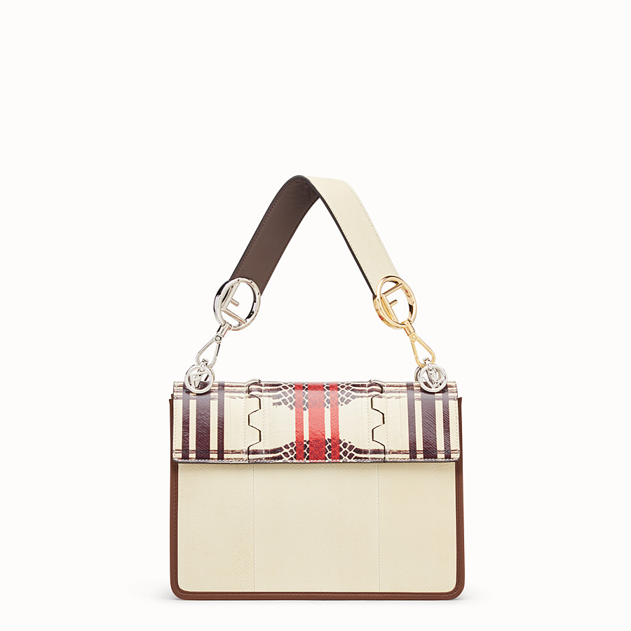 FENDI KAN I F - White karung bag - view 3 detail
