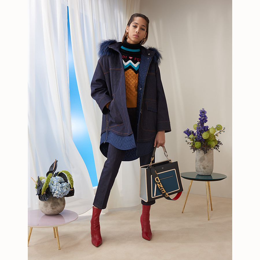 FENDI PULLOVER - Multicolour cashmere jumper - view 4 detail