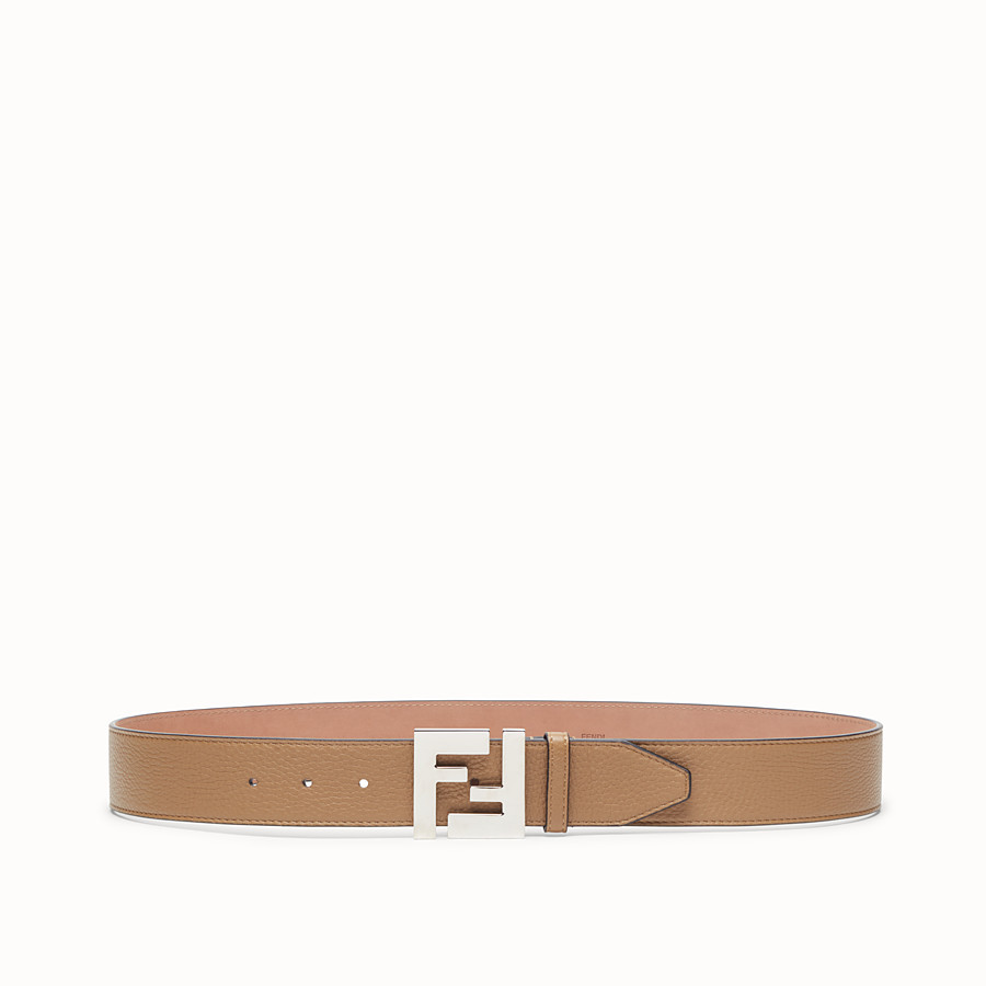 FENDI BELT - Beige leather belt - view 1 detail