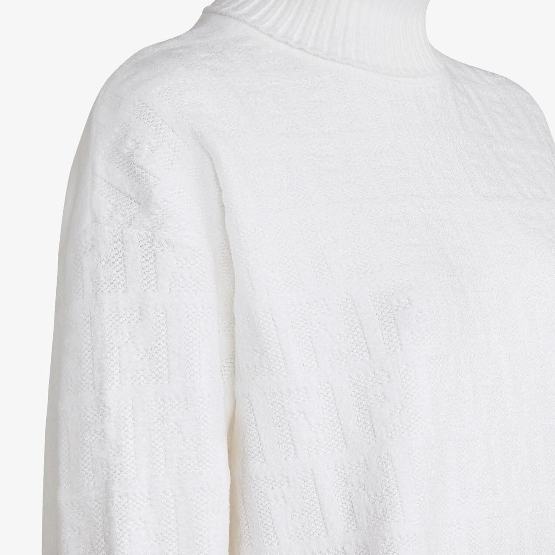 FENDI PULLOVER - White velvet jumper - view 3 detail
