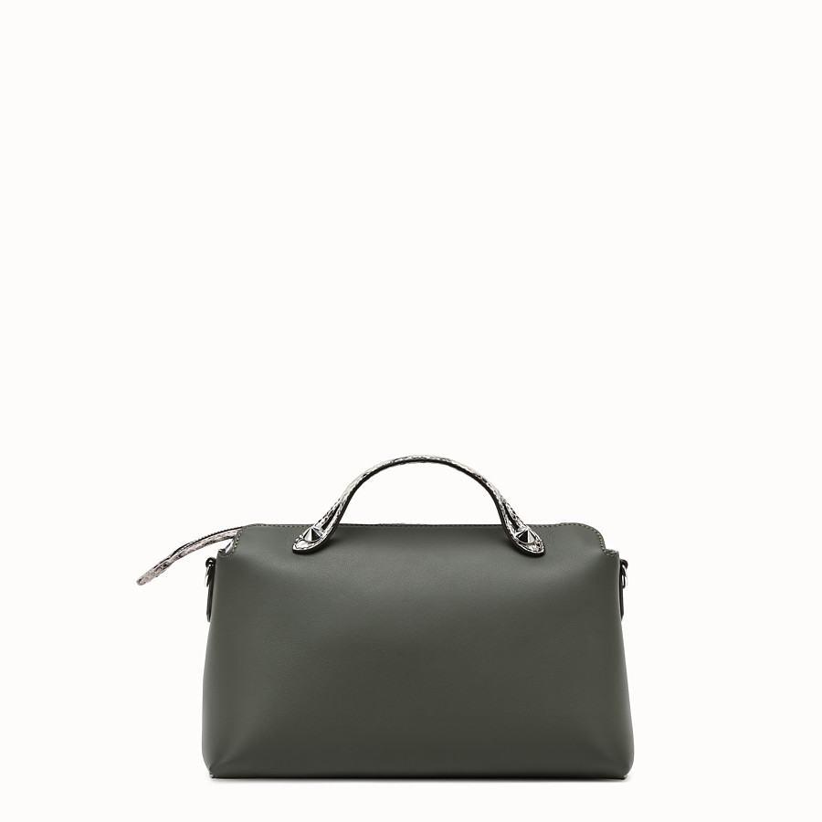 FENDI BY THE WAY REGULAR - Grass green leather Boston bag - view 3 detail