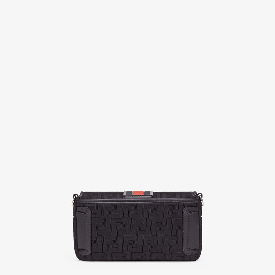 FENDI BAGUETTE - Black tech fabric bag - view 4 detail