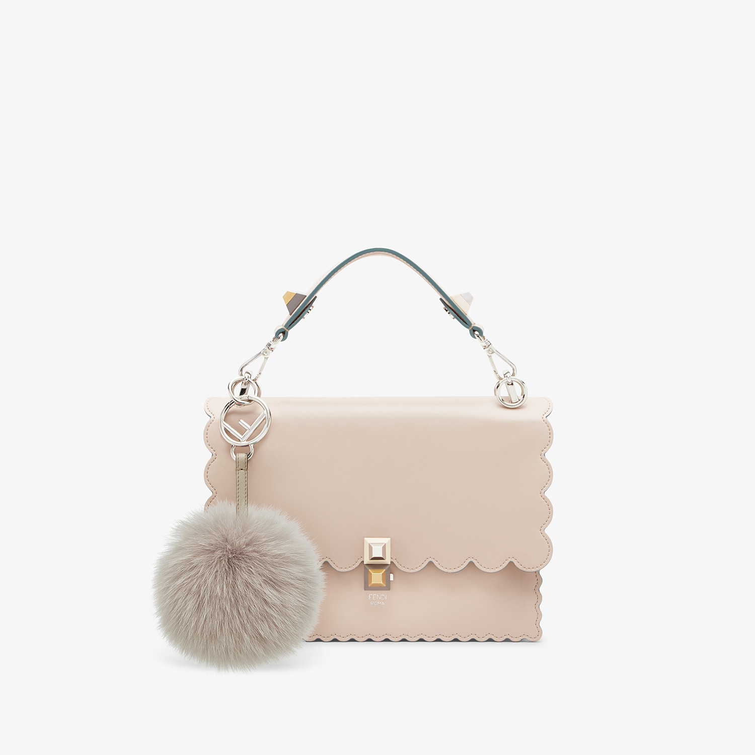 FENDI POM-POM CHARM - Charm in pearl-gray fur - view 2 detail