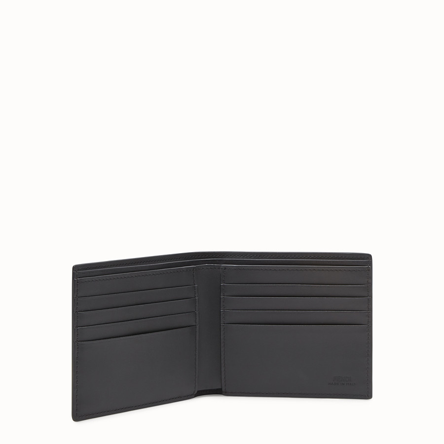 FENDI WALLET - Red leather bi-fold wallet - view 3 detail