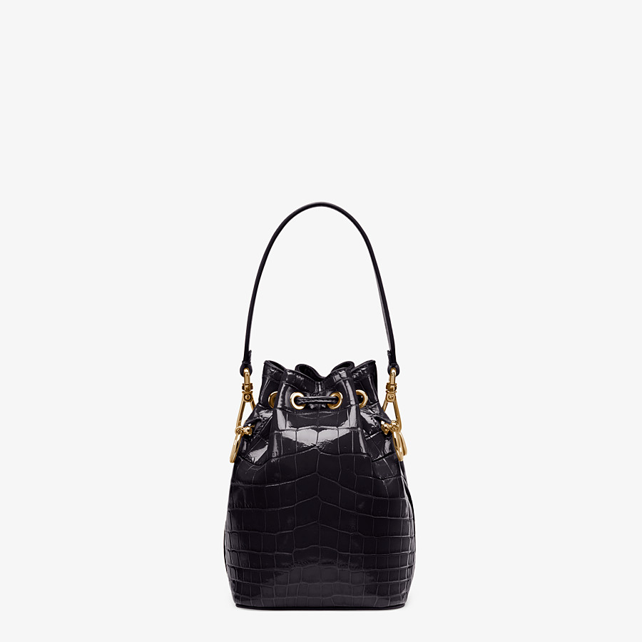 FENDI MON TRESOR - Mini-bag in black crocodile - view 3 detail