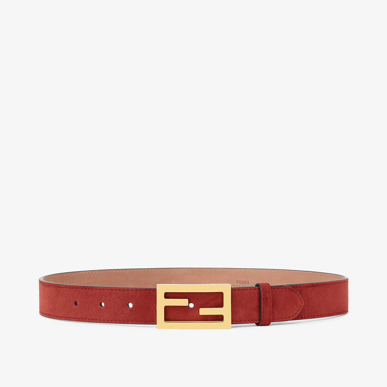 FENDI CINTURA - Cintura in pelle scamosciata marrone - vista 1 dettaglio