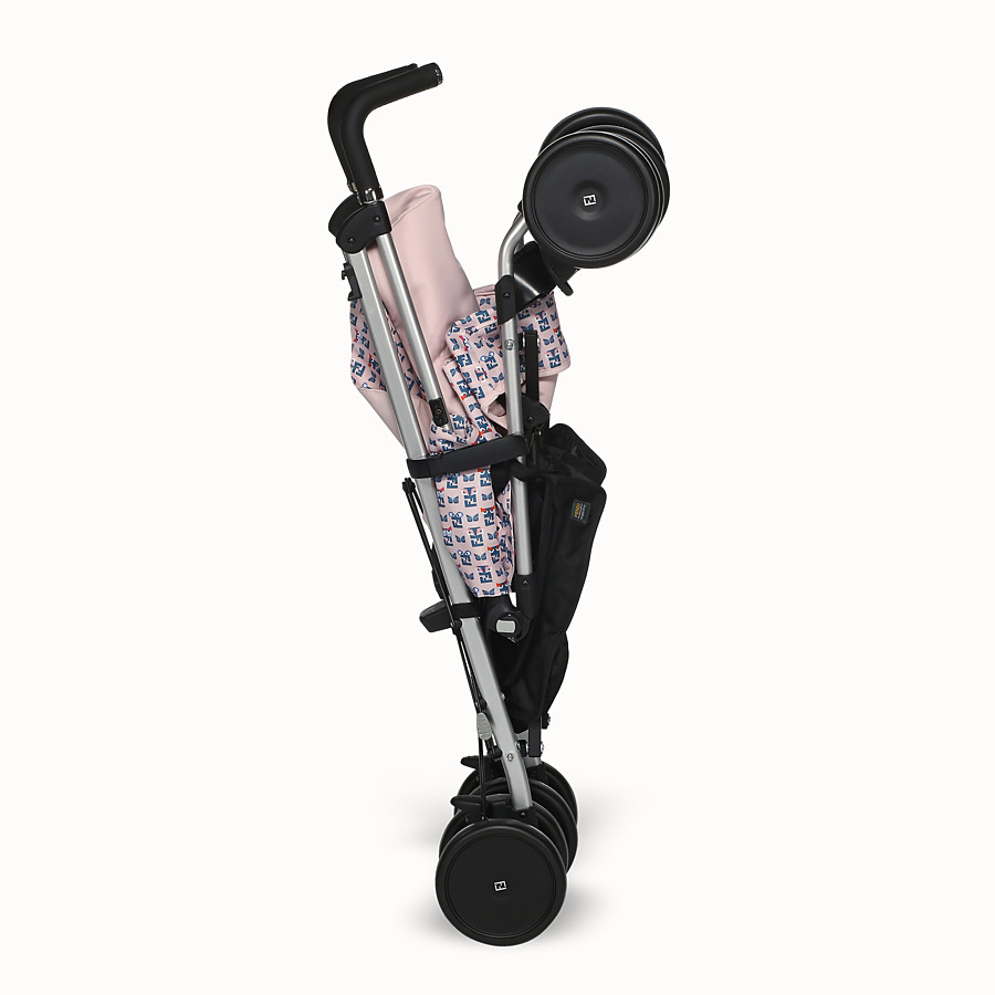 FENDI PUSHCHAIR - Pink stroller with monster pattern - view 4 detail
