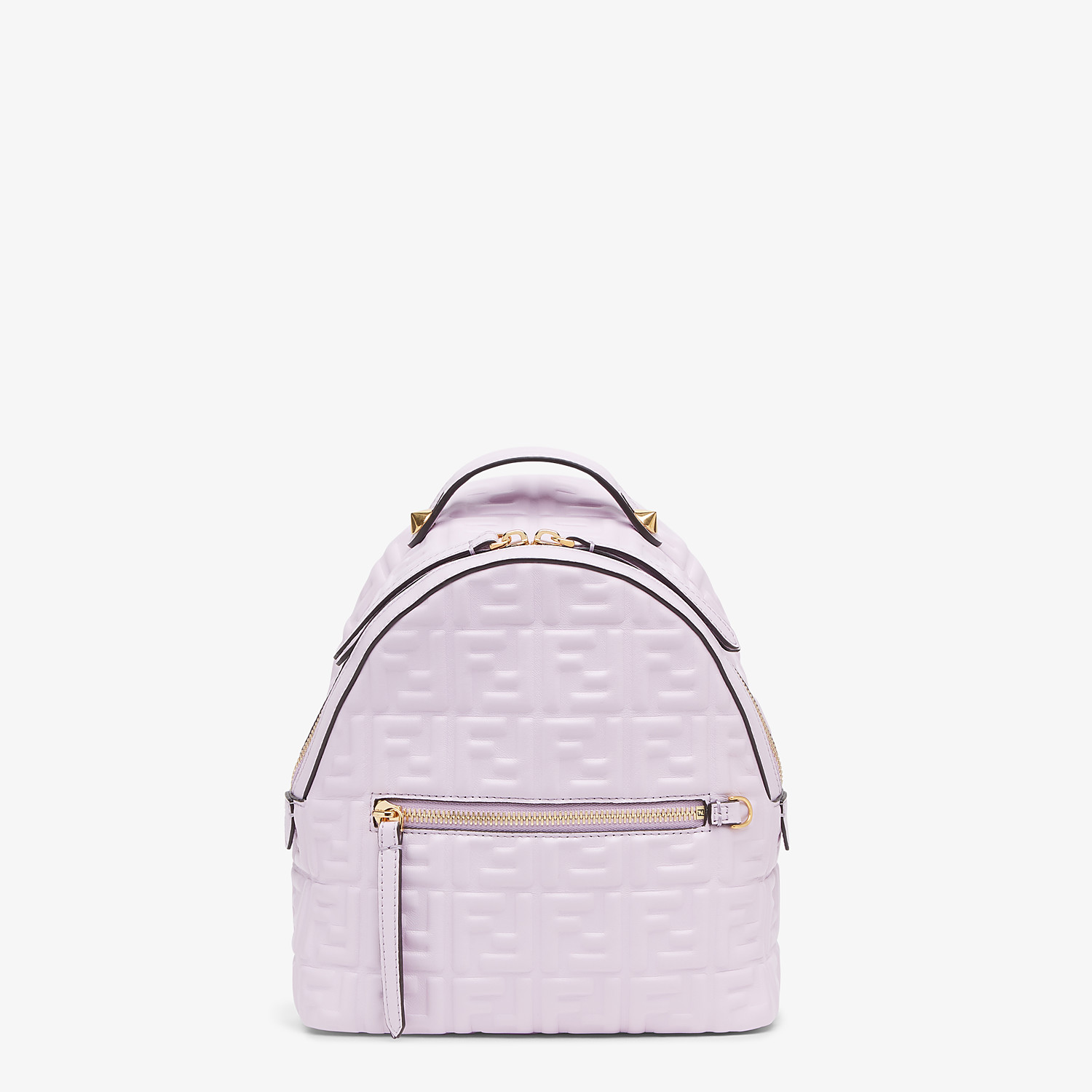FENDI MINI BACKPACK - Lilac leather FF backpack - view 1 detail