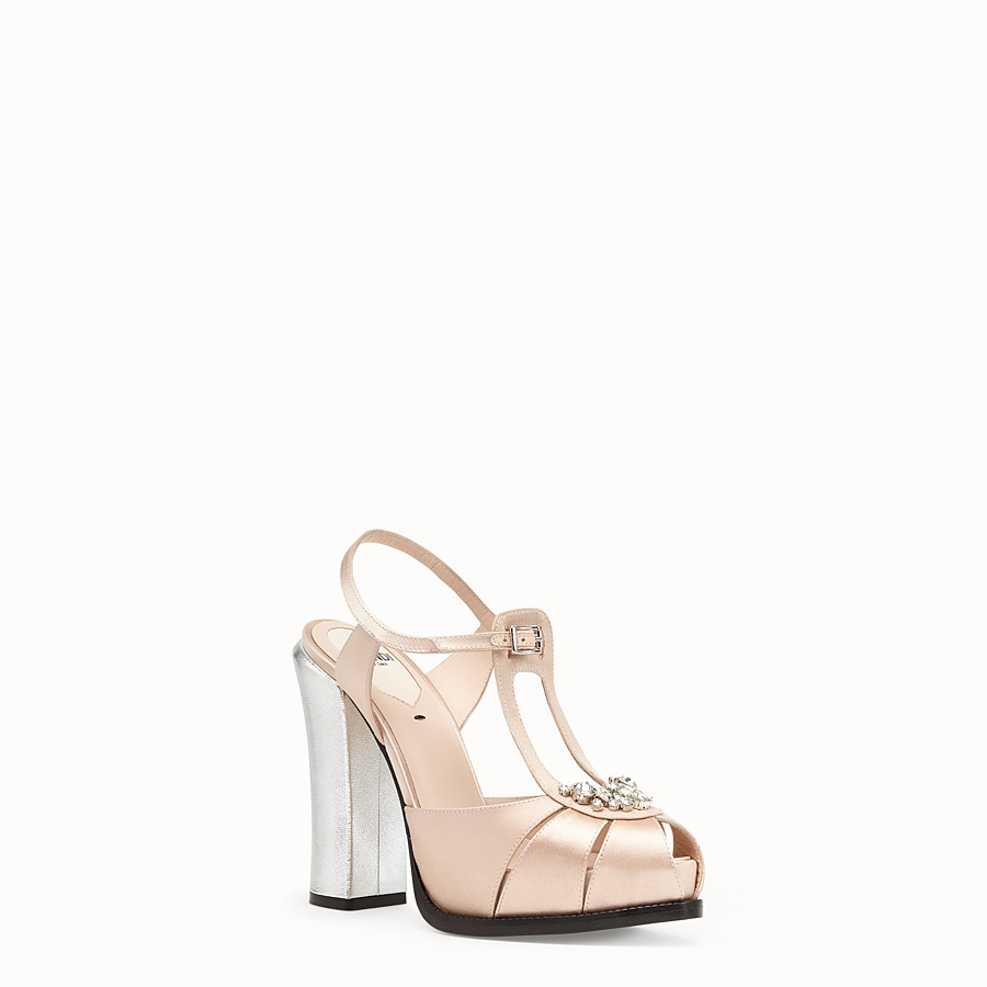 FENDI SANDALES - Sandales en satin rose - view 2 detail
