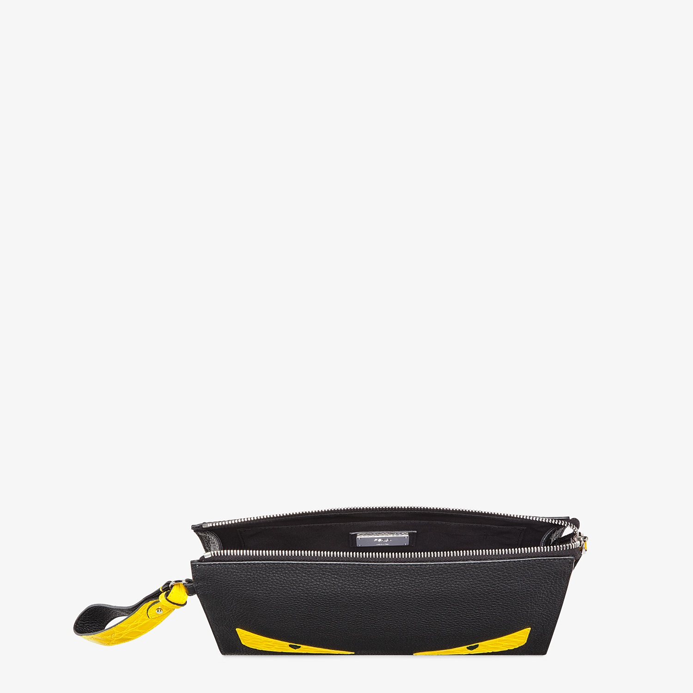 FENDI FLAT POUCH - Black leather pouch - view 4 detail
