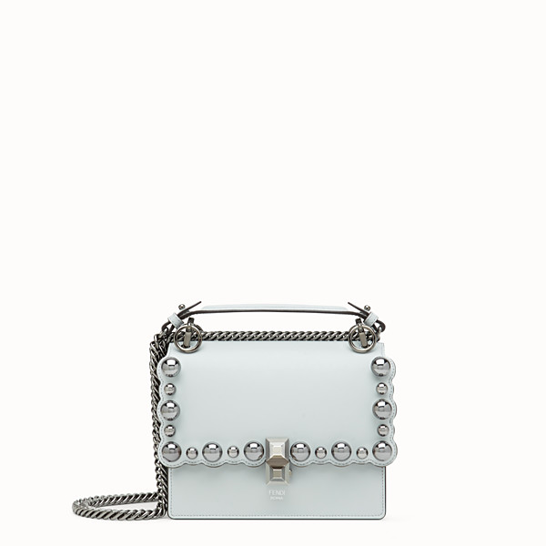 FENDI KAN I SMALL - Mini sac en cuir gris - view 1 small thumbnail
