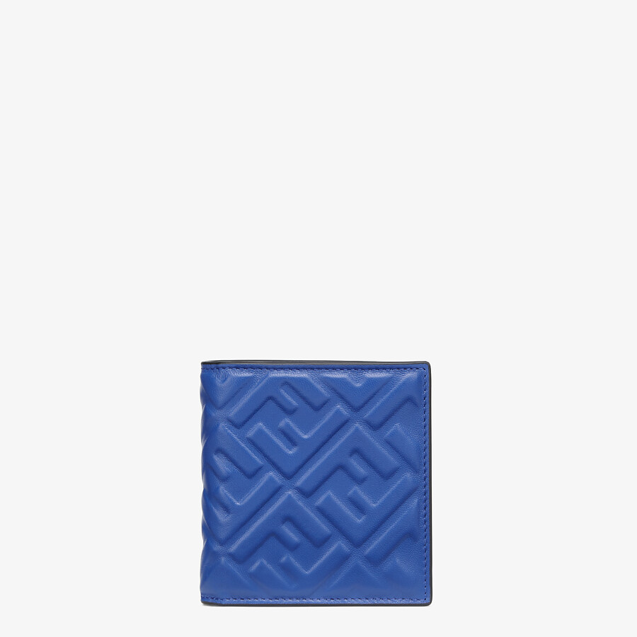 FENDI WALLET - Bi-fold wallet in blue nappa leather - view 1 detail
