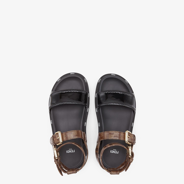 FENDI SANDALS - Sandals in glossy black neoprene - view 4 detail