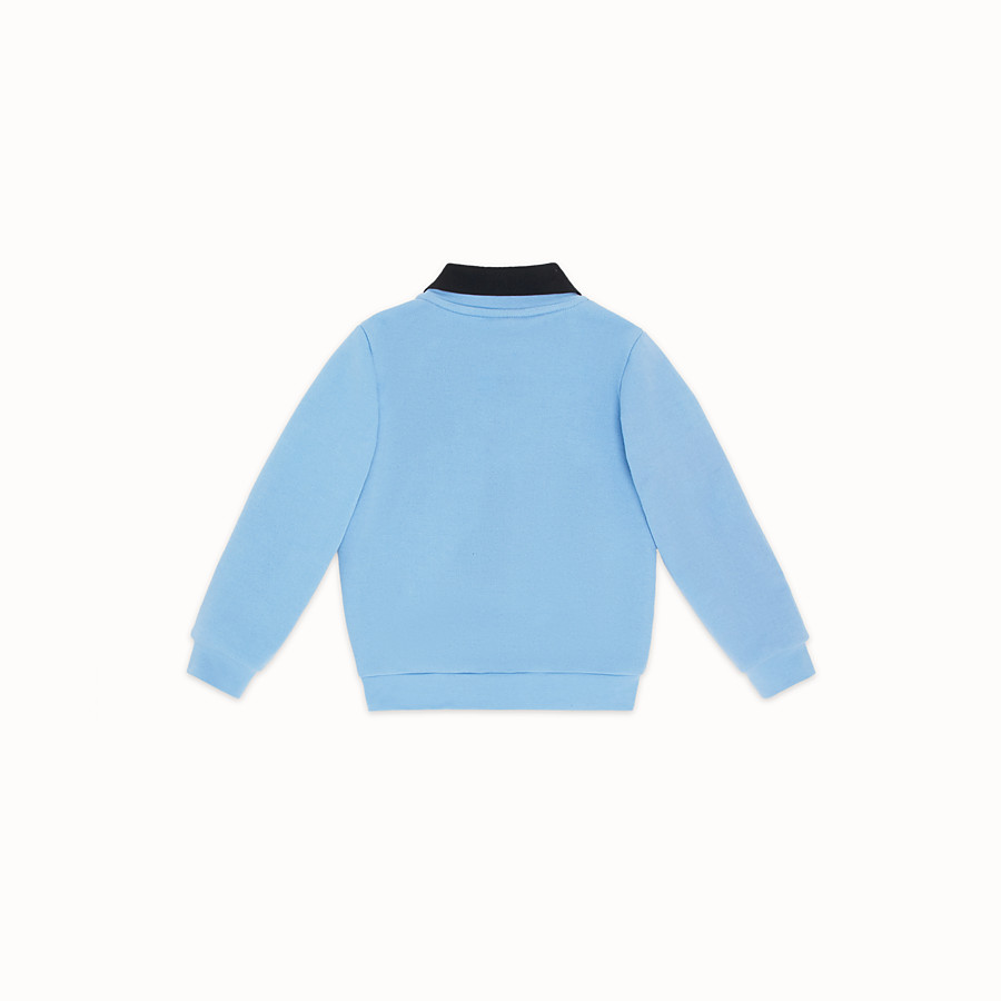 FENDI SWEAT-SHIRT À DOUBLE COL - Ceramic colour cotton sweatshirt - view 2 detail