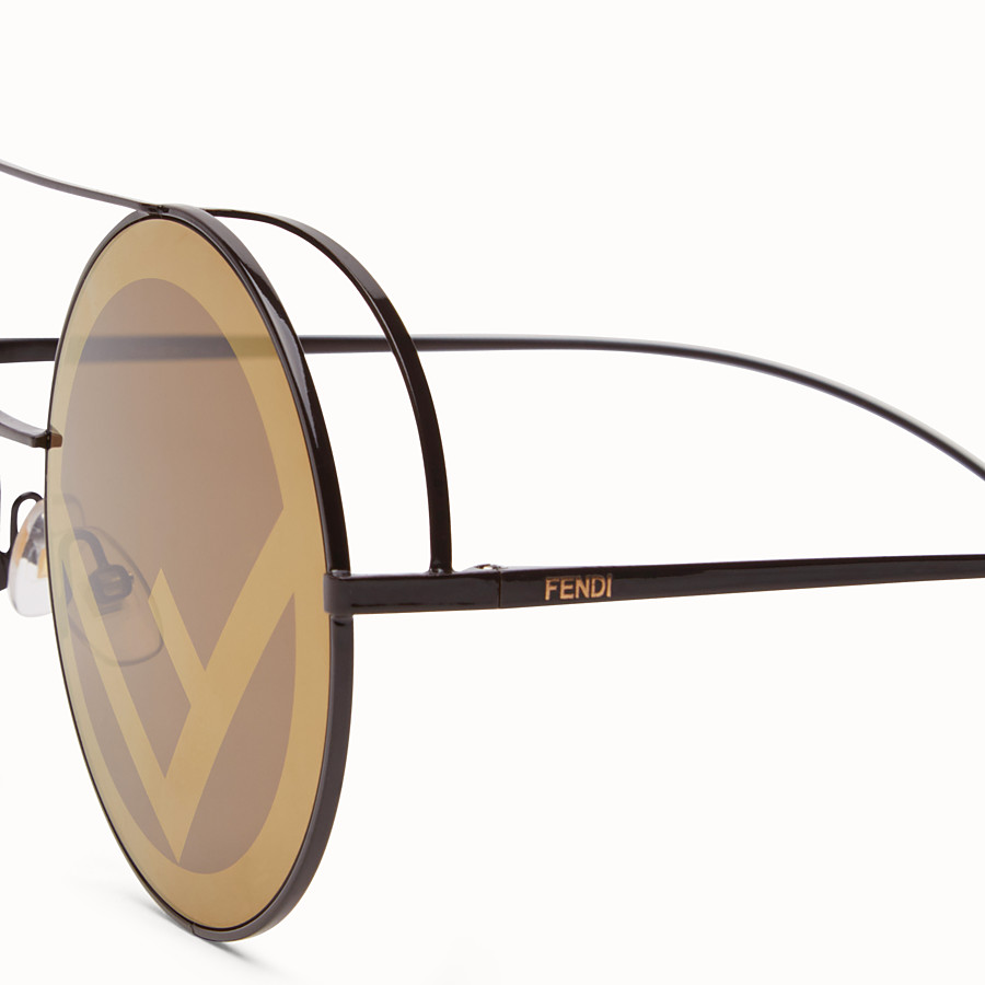 FENDI RUN AWAY - Lunettes de soleil Runway marron. - view 3 detail