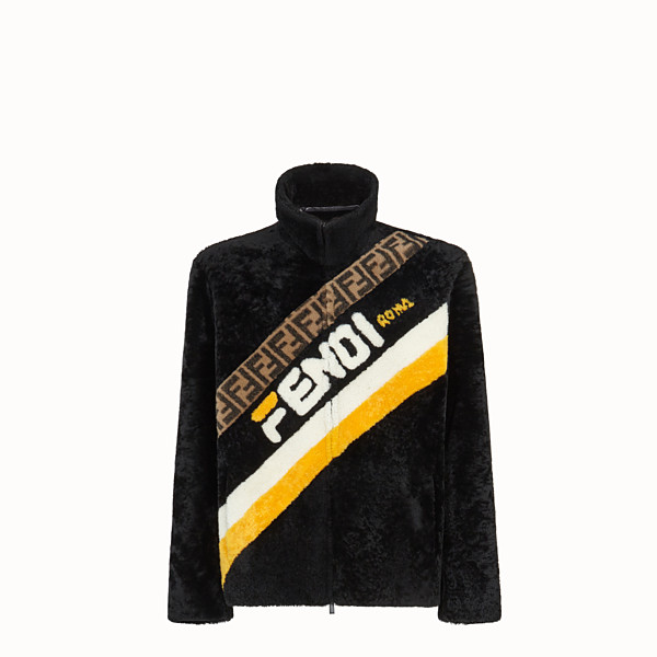 FENDI DENIM - Black sheepskin jacket - view 1 small thumbnail