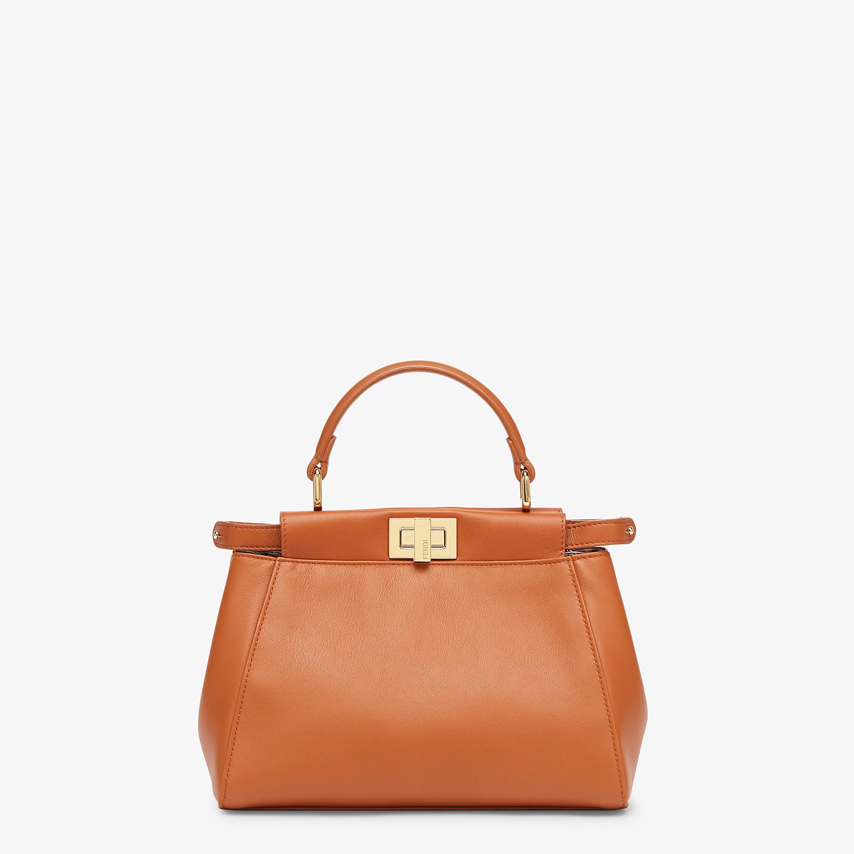 FENDI PEEKABOO ICONIC MINI - Brown nappa leather bag - view 1 detail
