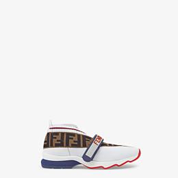 FENDI SNEAKERS - White fabric sneakers - view 1 thumbnail