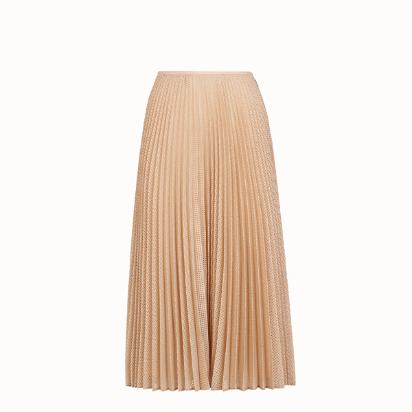 FENDI SKIRT - Beige mohair skirt - view 1 small thumbnail